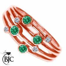 Anelli di lusso con gemme oro rosi diamante 9 carati