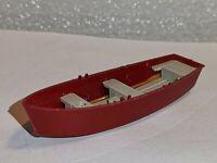 Wiking ( 94 / 1 )  Ruderboot dunkelrot mit 3 Rudern