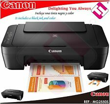 MULTIFUNCION IMPRESORA ESCANER CANON PIXMA MG 2550S MG2550S INYECCION A COLOR A4