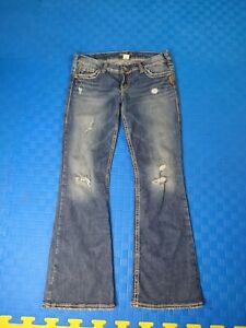 Silver Jeans Women's Blue Pioneer Distressed Bootcut Jeans w30 l31 Canada