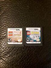 Lego Batman & Marvel Super Hero Nintendo DS NDS game lot of 2
