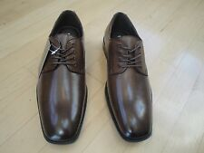 VanHeusen Blaine Brown Leather Men's Dress Shoes With Laces Size: 8 Med $79.99