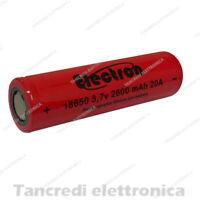 Batteria ricaricabile litio 18650 2600mah 20A 8C e-cig sigaretta elettronica