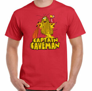 CAPTAIN CAVEMAN T-Shirt Mens Retro Animated 80's TV Show Program Unisex Top