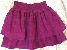 Aeropostale Skirt S Round Mini Fuchsia Magenta Pink Tiered Cotton