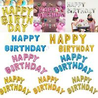 """HAPPY BIRTHDAY SET16""""inch SELF-INFLATING BALLON BANNER BUNTING PARTY LARGE BALON"""