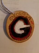 Georgia Bulldogs Hangs wood burned/hand painted US artist ornament custom avail