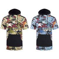 NEW Men Camo Hoodie Sweater Cash Eye Of Providence Short Sleeve Size S-2XL