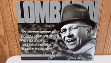 """VINCE LOMBARDI TIN SIGN  SIGNED BY """"2013 HALL OF FAMER"""" DAVE ROBINSON RARE!"""