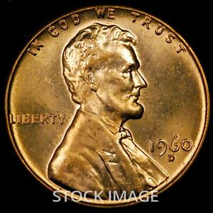 1960-D Large Date Lincoln cent penny - GEM BU quality!