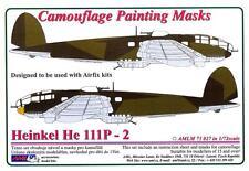 AML Models 1/72 CAMOUFLAGE PAINT MASKS HEINKEL He-111P-2 Bomber
