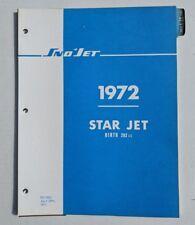 1972 SNO JET,  STAR JET SNOWMOBILE PARTS MANUAL / HIRTH 292cc