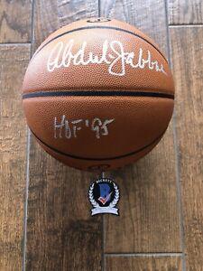 Lakers Kareem Abdul-Jabbar Signed Official Game Basketball BAS witness HOF 95