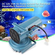 Pompe à Air Oxygène DC12V 35W Aérateur Accessoire Stable Pour Aquarium Fish Tank
