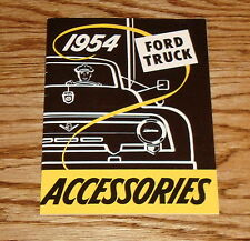 1954 Ford Truck Accessories Sales Brochure 54 Pickup