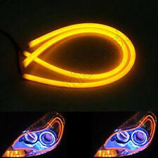 """2x Yellow 85cm 33.5"""" Car LED DRL Daytime Running Light Flexible Tube Strip DC12V"""