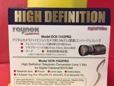 Raynox DCR-1542 1.54x Telephoto Lens 52mm >FZ40 FZ45 FZ47 FZ48 FZ100 FZ150 FZ200
