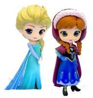 Disney Princess Q Posket Figures Set of 2 Frozen Anna & Elsa (D)