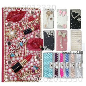 For Samsung Galaxy A50 Bling Flip Leather slots stand Wallet Case phone cover