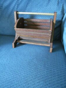 5x 7 inch Wooden Doll Cradle