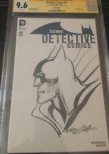 9.6 CGC SS Batman Detective Comics #44 Orig Art Sketch Cover & Signed Neal Adams Comic Art