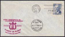 1956-FDC-148 ANTILLES SPAIN 1956 FDC HUBERT DE BLANCK MUSIC MUSICA RED CANCEL.
