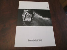 BAUME & MERCIER 2009 SWISS WATCH PRICE LIST and SALESMEN SELLING GUIDE