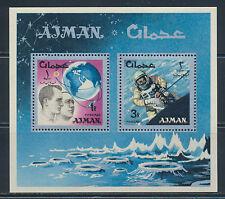 UAE AJMAN 1966 SPACE RESEARCH MICHEL BLOCK 8A