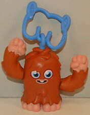 "2012 Brown Furi 2.5"" McDonald's Clip-On Action Figure #6 Moshi Monsters"