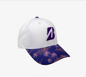 Bridgestone Golf 2021 Hawaiian Adjustable Hat/Cap COLOR: White/Purple