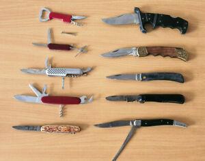 Konvolut alte Taschenmesser Klappmesser Jagdmesser Sammlermesser Sammlung