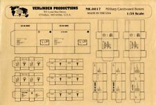 Verlinden Productions 1:35 US and German Military Cardboard Boxes WWII #0017