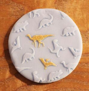 Dinosaur Cookie Embosser, Dino Cookie Debosser, Cookie Fondant Stamp
