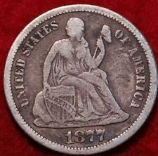 1877 Silver Philadelphia Mint Seated Liberty Dime