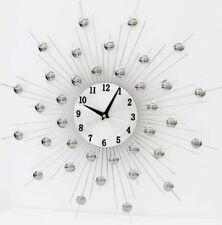 Modern Chrome Hand Crafted Wall Clock 47cm Quartz Movement Medium Size 1309