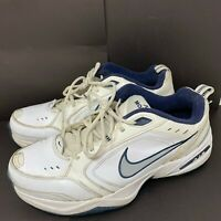 Nike Air Monarch IV Mens Size 13 White Blue Walking Athletic Shoes 416355-102