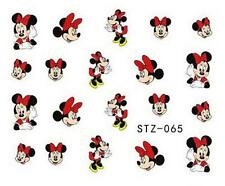 Minnie Mouse Red Bow Nail Art Sticker Decal Decoration Manicure Water Transfer