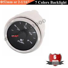"Φ52mm or 2-1/16"" Waterproof Fuel level Gauge Car Auto Boat 0-190ohm 240-33ohm"