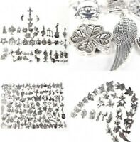 100pcs Retro Silver Charm Tibetan Pendants Mixed in BULK Jewelry DIY Wholesale