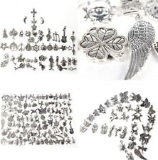 Wholesale 100pcs Retro Silver Charm Tibetan Pendants Mixed in BULK Jewelry DIY