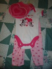 NEW Girl's size 3-6 Month 3 Piece  Pink Zebra Set from Swiggles