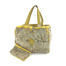 Chanel Tote bag COCO Beige Yellow Woman Authentic Used C1876