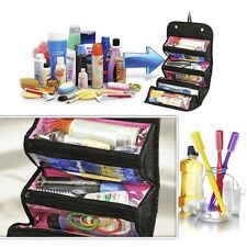 1x Roll-up Cosmetic Makeup Case Organizer Pouch Toiletry Zip Jewellery Wash Bag