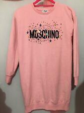 Girls Designer Moschino Pink Stars Wording Print Long Jumper Dress 12yrs💗💗