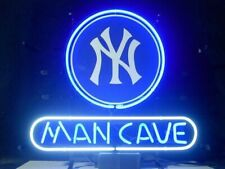 "New York Yankees Man Cave Neon Lamp Sign 20""x16"" Bar Light Beer Glass Display"