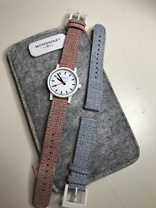 Women's Mondaine watch with two straps