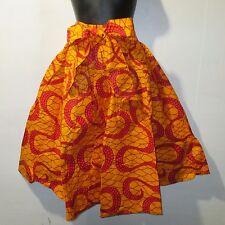 Kwanzaa Hose Passform M L XL 1XL XXL  Afrikanische Wachs Druck Rot Orange Breit
