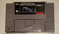 Nigel Mansell's World Championship Racing Super Nintendo SNES Cartridge Tested
