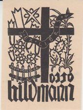 Ex-libris Otto HILDMANN par Gerhard GOLLWITZER (1906-1973) - Allemagne