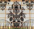 Gothic Black Lace SKULL BAT CURTAIN VALANCE SHAWL Halloween Haunted House Decor
